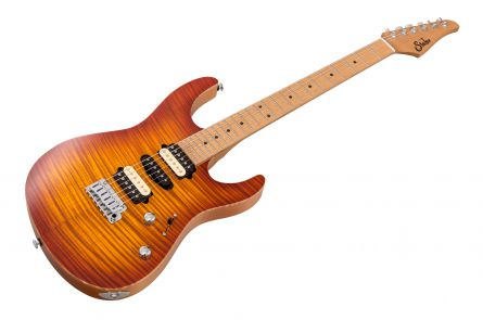 Suhr Modern Satin Flame HSH Ltd HB - Honey Burst MN PV JS6Z2A