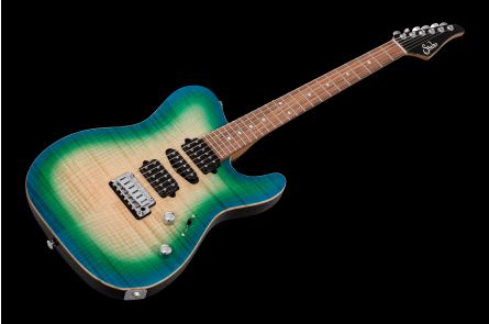 Suhr Modern T Custom Shop HSH IB - Island Burst Satin - Roasted maple neck