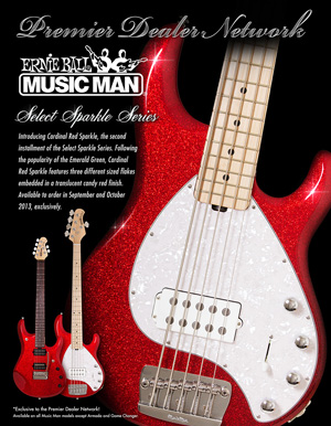 Music Man PDN Select Cardinal Red Sparkle 300