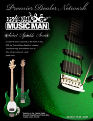 Music Man PDN Select Emerald Green Sparkle