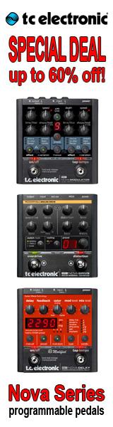 TC Electronic Nova Programmable Pedals